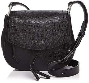 Marc Jacobs Maverick Mini Leather Shoulder Bag - BLACK/SILVER - STYLE