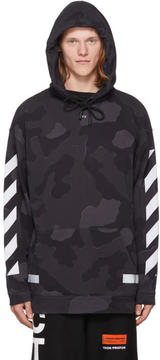 Off-White SSENSE Exclusive Black Camouflage Diagonal Arrows Hoodie