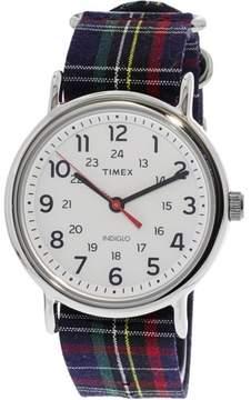 Timex Weekender TW2R10900 Silver Nylon Analog Quartz Dress Watch