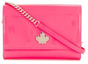 DSQUARED2 Women's Fuchsia Leather Shoulder Bag.
