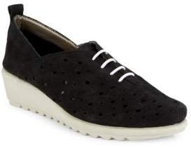 The Flexx Run Crazy Too Perforated Leather Sneakers