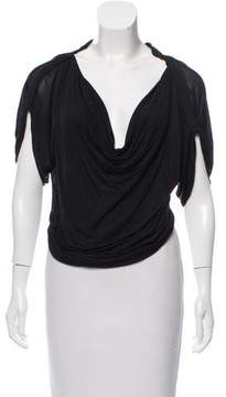 Christian Dior Cowl Neck Dolman Sleeve Top