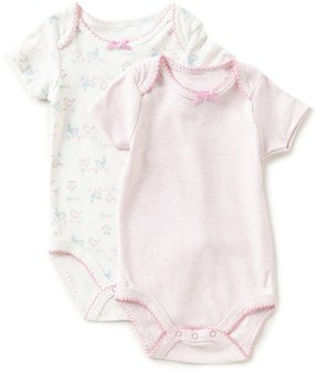 Starting Out Baby Girls Newborn-6 Months Short-Sleeve Bird Bodysuit 2-Pack