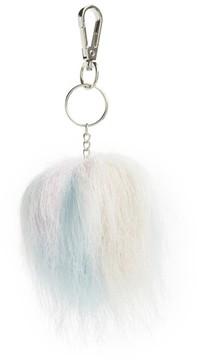 Topshop Women's Pastel Faux Fur Pom Key Ring
