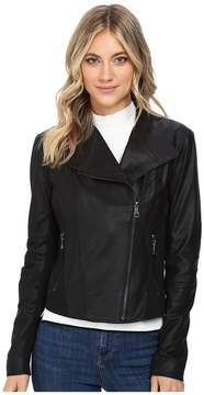 Andrew Marc Felix 19 Feather Leather Jacket Women's Jacket