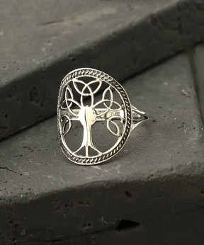 Celtic Sterling Silver Tree-of-Life Ring