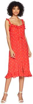 For Love & Lemons Natalia Dot Midi Dress Women's Dress