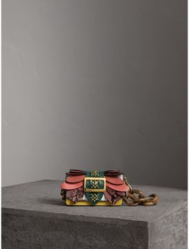 Burberry The Small Buckle Bag in Snakeskin and Leather