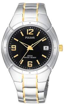 Pulsar Men's Active Sport -Two Tone with Black Dial - PXH172
