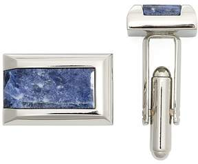 Bloomingdale's The Men's Store at Polished Rhodium Sodalite Rectangle Cufflinks - 100% Exclusive