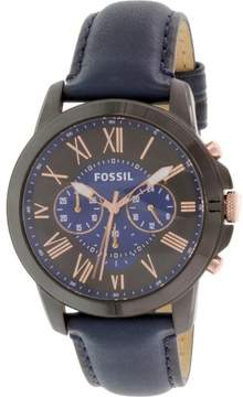 Fossil Men's FS5061 Grant Leather Watch, 44mm