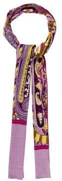 Etro Silk-Blend Floral Scarf