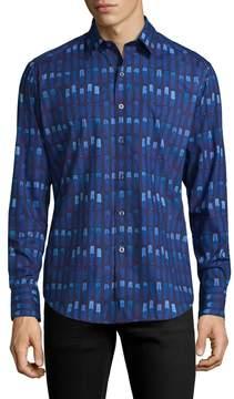 Robert Graham Men's Banksia Cotton Sportshirt