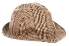 Paul Smith Plaid Wool Fedora Hat