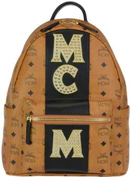 MCM Stark Stripe Studs Small Backpack