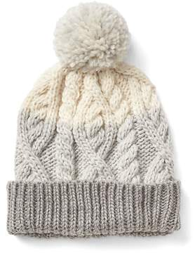 Gap Cable-knit pom beanie