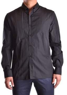 Galliano Men's Black Cotton Shirt.
