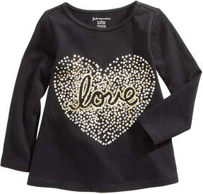 First Impressions Love-Print Cotton T-Shirt, Baby Girls (0-24 months), Created for Macy's