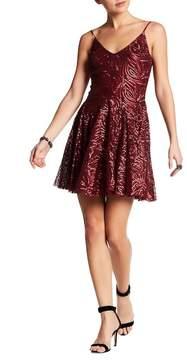 Betsey Johnson Tonal Sequin Skater Dress