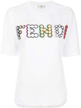 Fendi embellished logo T-shirt