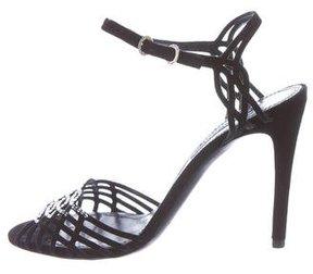 Ralph Lauren Embellished Multistrap Sandals