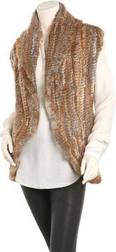 Adrienne Landau Women's Brown Vest