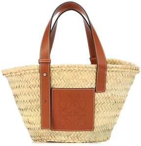 Loewe Leather trimmed basket tote