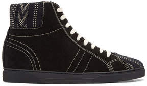 Saint Laurent Black Ikat Joe High-Top Sneakers