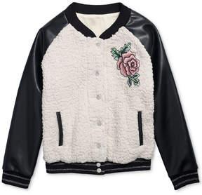 Jessica Simpson Cassia Faux-Fur Bomber Jacket, Big Girls (7-16)