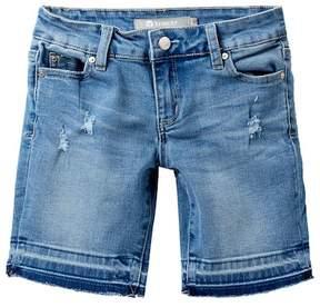 Tractr Exposed Hem Bermuda Shorts (Big Girls)