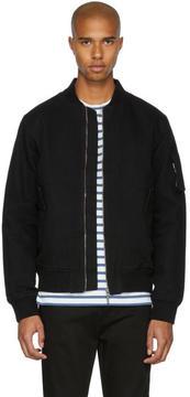 Nudie Jeans Black Alexander Bomber Jacket