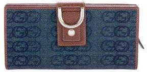 Gucci GG Denim Abbey Wallet - BLUE - STYLE