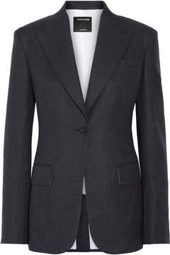 Calvin Klein Checked Wool Blazer - Midnight blue