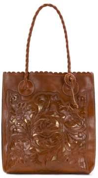 Patricia Nash Cavo Tooled Leather Cutout Tote
