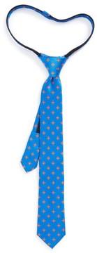 Nordstrom Boy's Medallion Silk Zip Tie