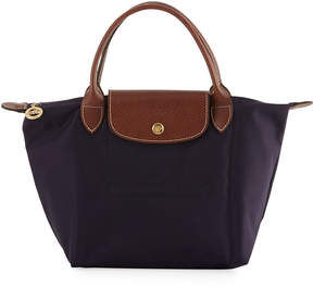 Longchamp Le Pliage Mini Nylon Tote Bag, Navy Blue - PURPLE - STYLE