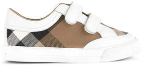 Burberry Half Mega Check low top trainers