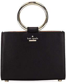 Kate Spade White Rock Road Sam Mini Leather Ring-Handle Bag
