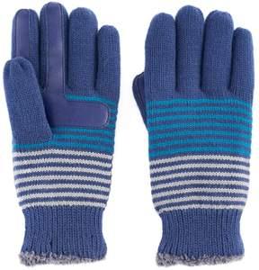 Isotoner Women's Striped Knit smarTouch smartDRI Tech Gloves