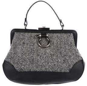 Burberry Leather Handle Frame Bag