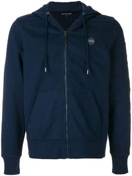 Michael Kors logo print zip-up hoodie