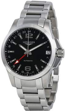 Longines Conquest Automatic Black Dial Stainless Steel Men's Watch