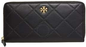Tory Burch Georgia Zip Around Continental Wallet- Black - ONE COLOR - STYLE