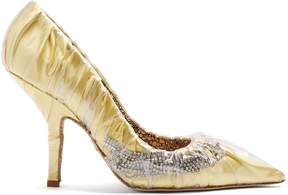Cesare Paciotti BY MIDNIGHT Crystal-embellished ruched satin pump
