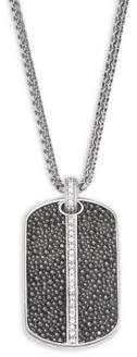 Effy Sterling Silver Dog Tag Pendant Necklace