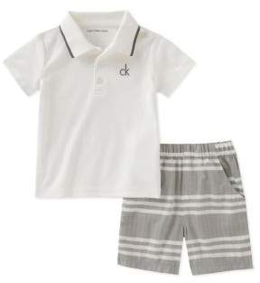 Calvin Klein Jeans Baby Boy's Two-Piece Polo and Shorts Set