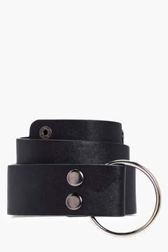 boohoo Emma O-Ring Popper Stud Boyfriend Belt