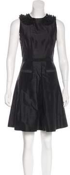 Calypso Embellished Silk Mini Dress