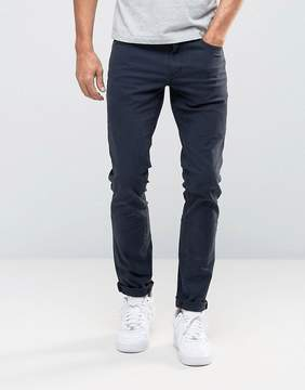 Pull&Bear Slim 5 Pocket Jeans In Navy