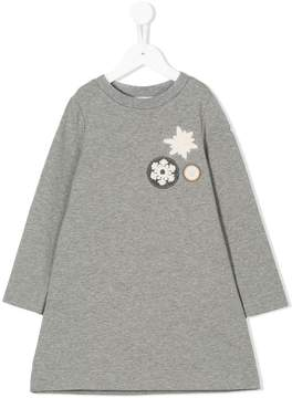 Moncler snowflake appliqué dress
